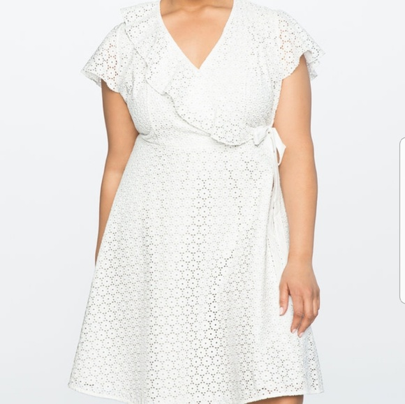 1e3e16073d0 Eloquii Studio white dress. NWT